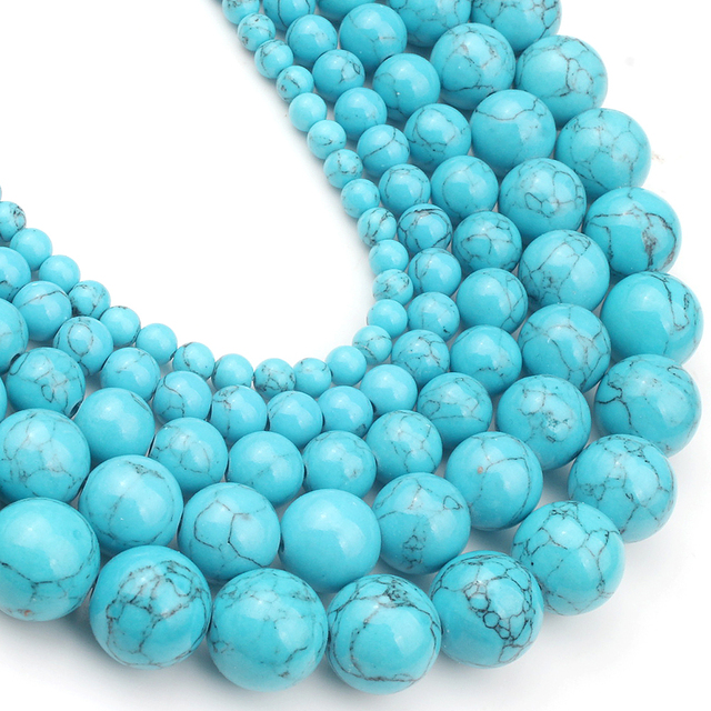 4/6/8/10/12mm Natural Turquoises Bead 5