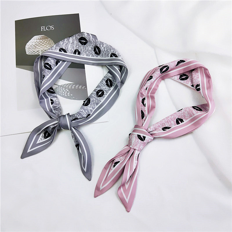 Front Point Neckerchief Silk Scarf Women All -match Ribbon Wrist Bag Package Belt Korean Style Changeable Scarf Hair Band