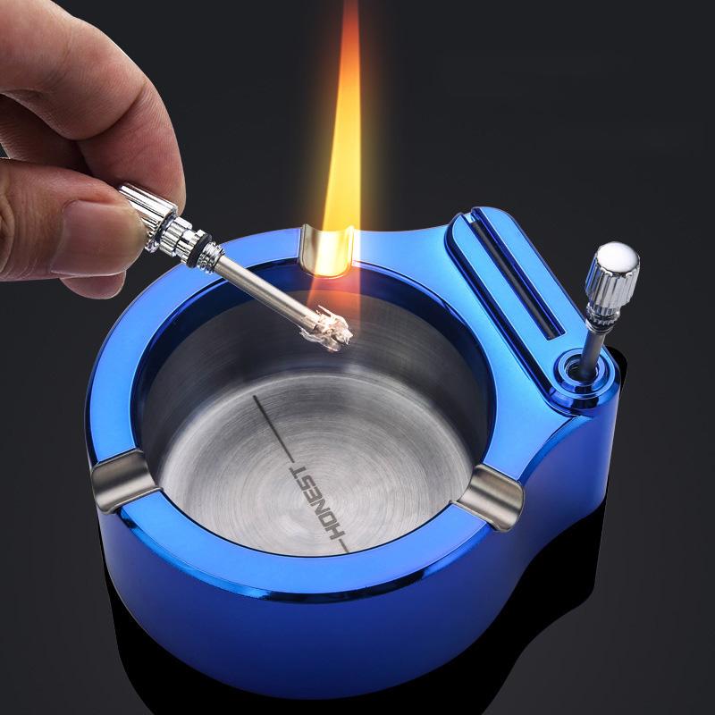 Retro Metal Ashtray Million Match Lighter