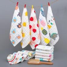 Baby Towel Newborn Cotton Child Gauze Hand-Bathing Infant Cartoon 6-Layers Bibs