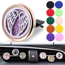 New Car Air Diffuser Locket Free Wings Stainless Steel Vent Freshener Essential Oil Perfume Aromatherapy Necklace