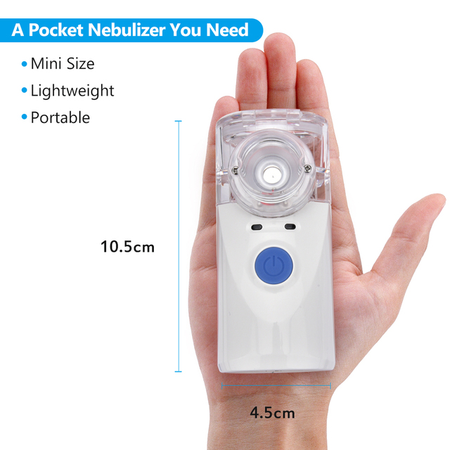 Inhaler Portable Nebulizer for inhalation Handheld Ultrasonic Steaming Devices Home USB Rechargeable Nebulizer for Adults Kids 1