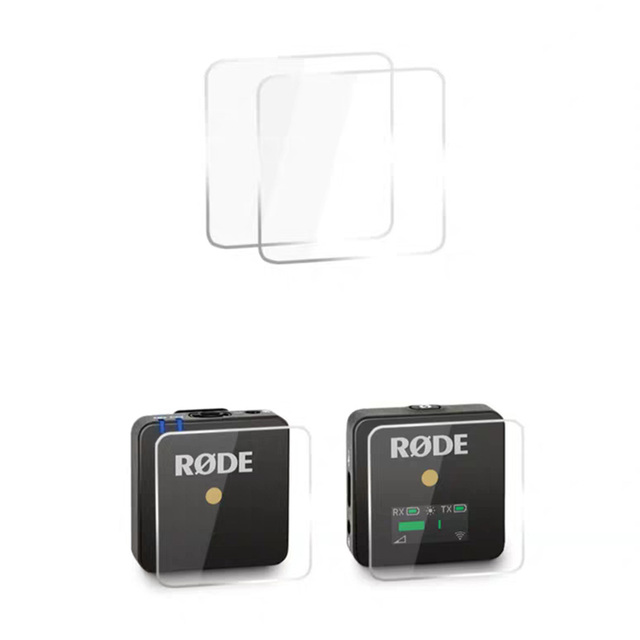 فيلم واقي لميكروفون Rode Wireless Go ، زجاج مقوى ، 2 قطعة
