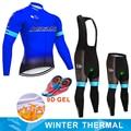2019 ASTANA Pro equipo hombres invierno térmico polar ciclismo jersey conjunto ropa de abrigo ropa ciclismo MTB bicicleta deporte ciclismo ropa