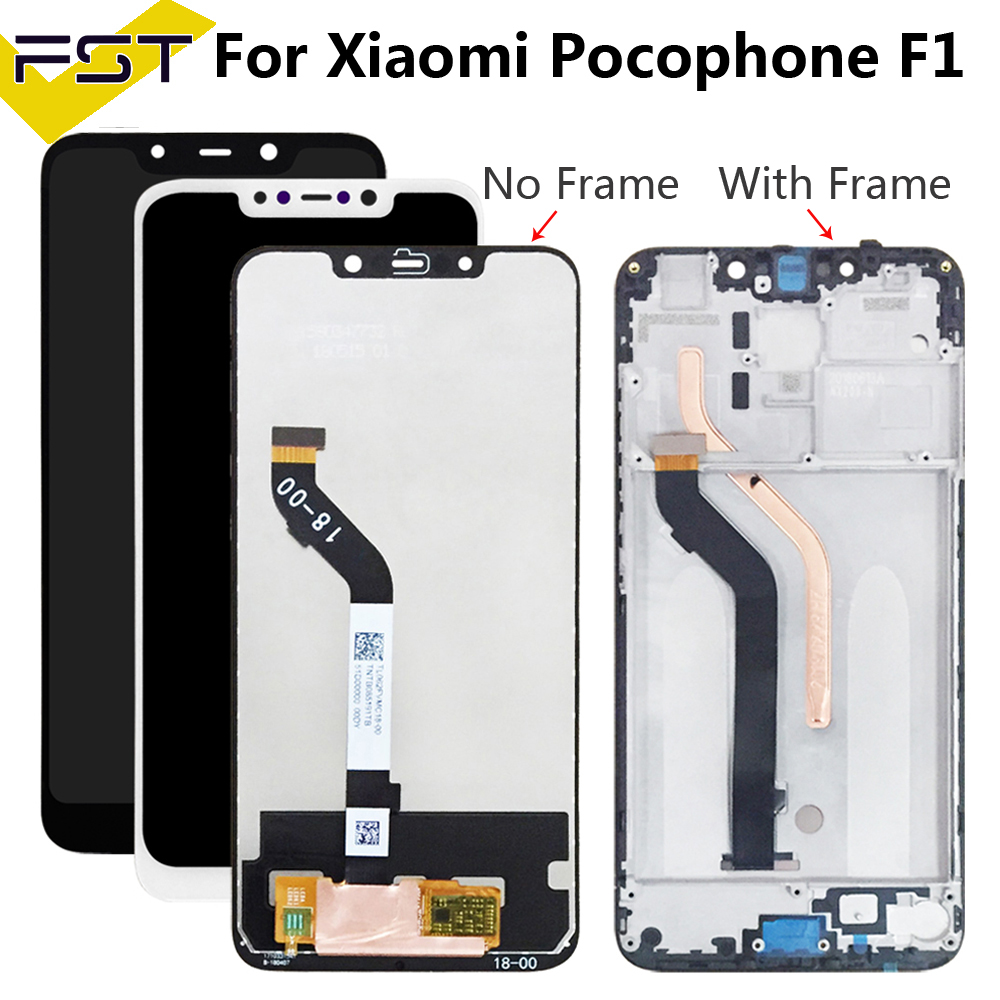 For XiaoMi Pocophone F1 LCD Display And Touch Screen Assembly+Frame Repair Parts With Tools +Adhesive For XiaoMi Pocophone F1