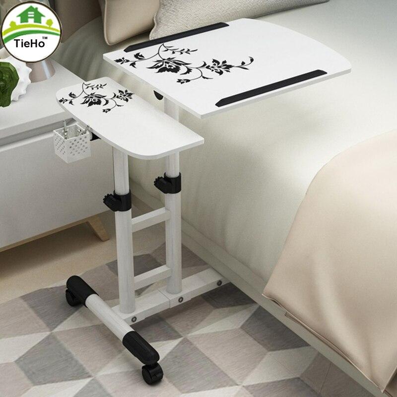 מתכוונן מחשב שולחן עם גלגל לסובב מחשב נייד שולחן שולחן ספה מיטת מחקר הרים עומד שולחן בית ריהוט
