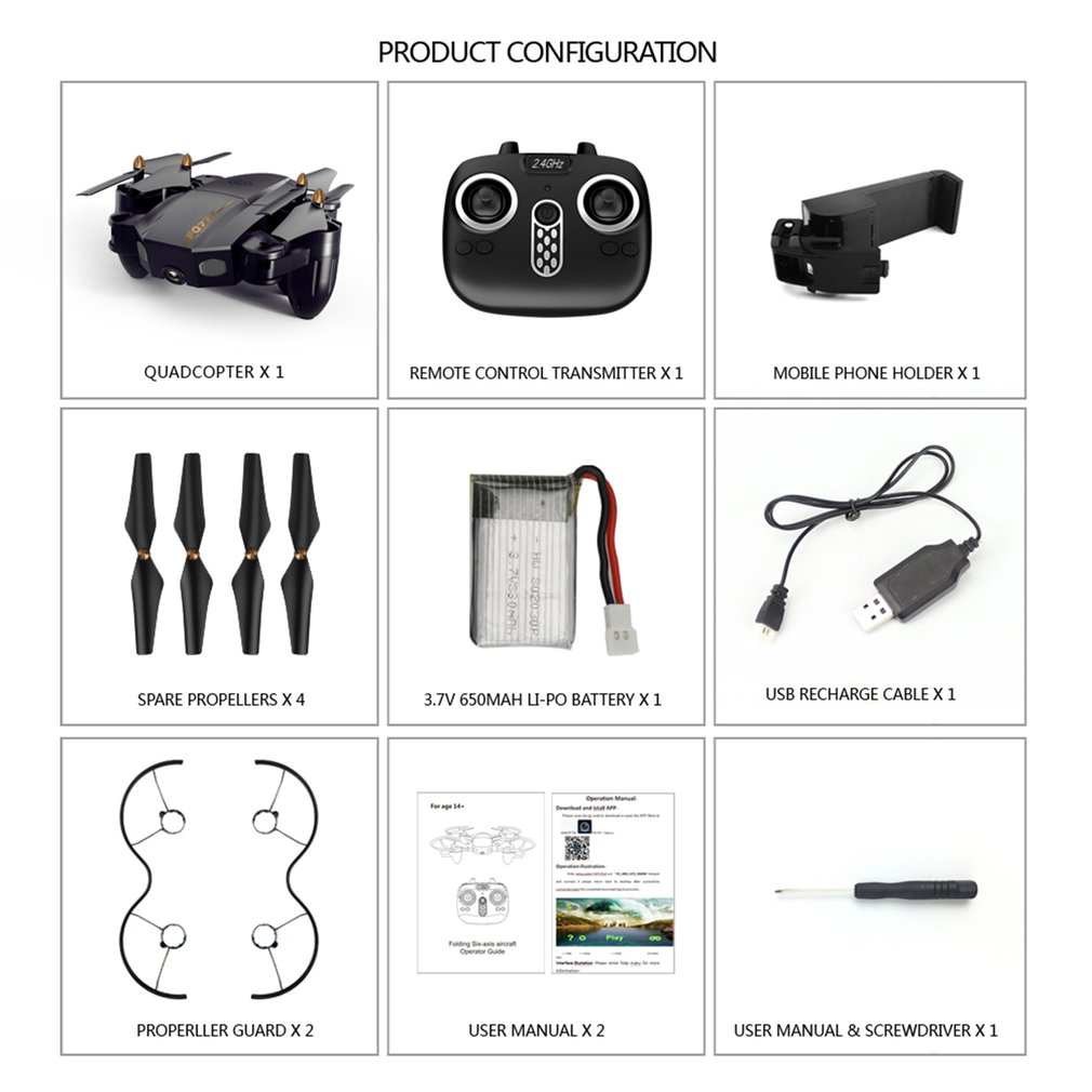 FQ777 FQ36 2.4G Mini WiFi FPV rc Dron Toys with 30W/200W HD Camera Altitude Hold Mode Real time Foldable RC Drone Quadcopter RTF