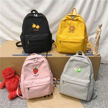 2021 Fashion Cute Fruit Pattern Shoulder Backpack Casual Travel Backpacks Large Capacity School Bag for Teenage Back To School