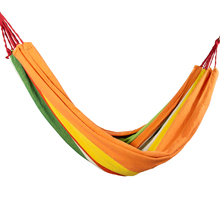 200x150cm Portable Camping Hammock Outdoor Folding Striped Hanging Chair Leisure Sleeping Hammock Travel Double Hanging Bed