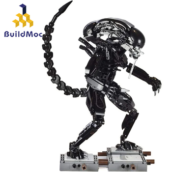 BuildMoc 27578 Movie Series Aliens Mech Model Building Blocks Bricks Compatible wars Toys Children Gift 2020 new star wars the empire strikes back 20th anniversary edition building blocks model bricks classic for children toys gift