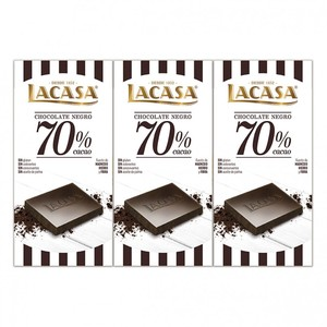 3 tablets black Chocolate 70% cocoa · 100g.