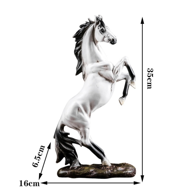 European War Horse Sculpture Statue Resin Home Decoration Accessories Domineering Animal Statue Modern Craft Gift Statue 6