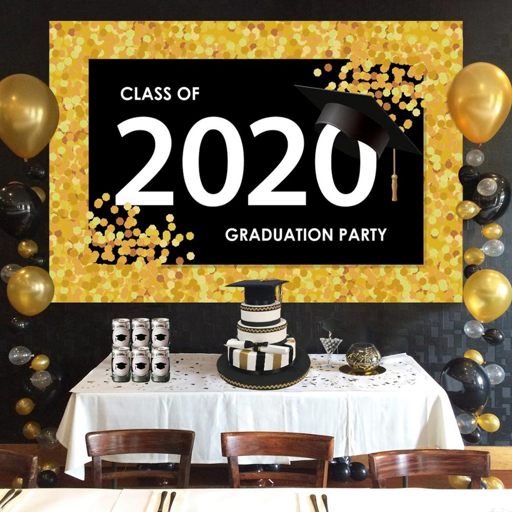 QIFU 2020 Graduation Party Backdrop Graduation Photo Booth Props Congratulations Graduation Party Decor Class Of 2020 Photobooth