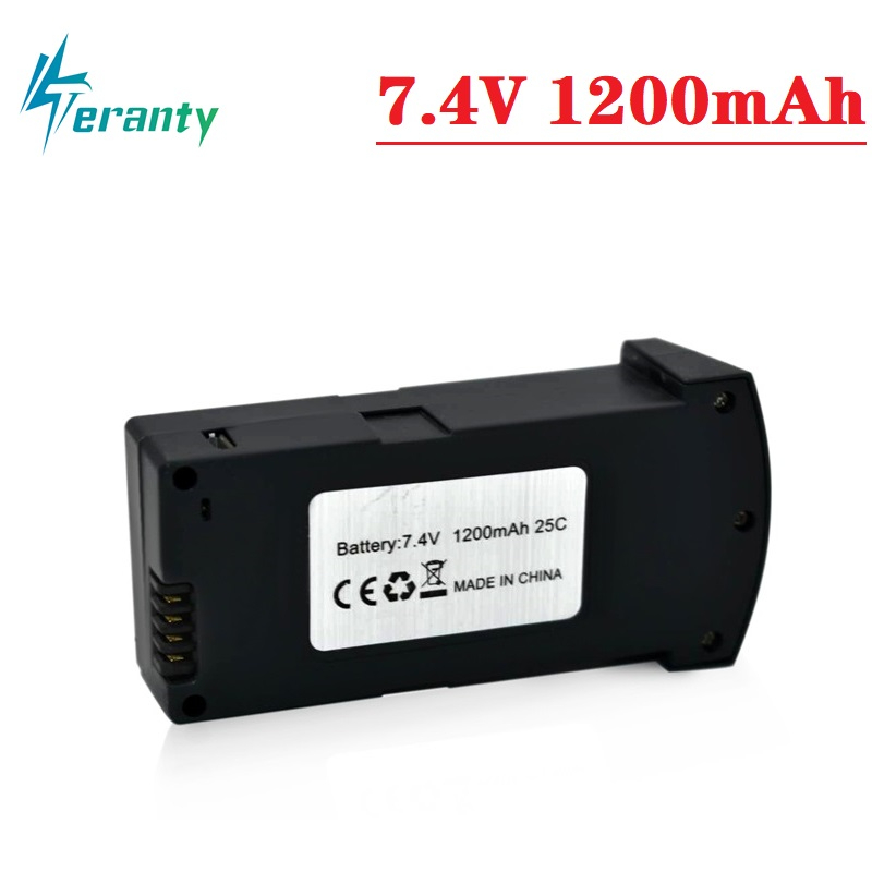 1/2/3/5/10Pcs 7.4V 1200MAH LiPo Battery For RC E520 E520S RC Quadcopter Spare Parts 1200 MAh 25C 7.4V Drone Battery Original NEW