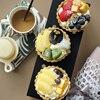 Simulation fruit tart Fruit pie model display Fake cake dessert Strawberry tart cake Baking shop window