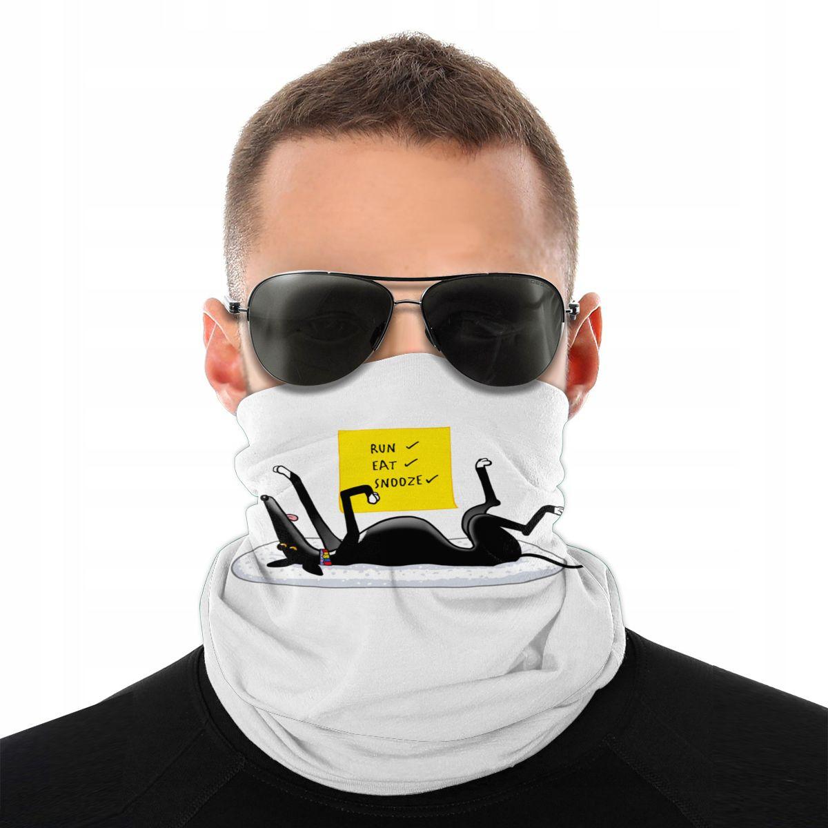 Snoozin máscara facial de halloween, aquecedor de pescoço, cachorro, lurcher, bandana tubular, protetora, bicicleta, trilhas
