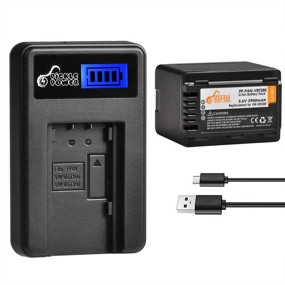 HC-W580EB-K HC-W580EG-K Full HD Camcorder HC-W580M Battery Charger for Panasonic HC-W580K
