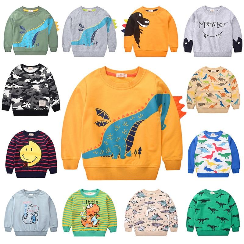 2020 Dinosaur Boys Hoodies for Teen Girls Cotton Autumn Winter Children's Sweatshirt Kids Oversized Hoodies  Poleron Boy Clothes 1