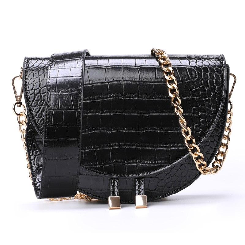 Luxury Handbags Women Bags Designer Alligator PU Leather Small Chains Girls Purse Vintage Shoulder Crossbody Bags For Women