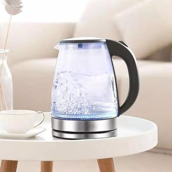 1.7l Stainless Steel Glass Electric Water Kettle Off Automatically Handheld Anti-hot Electric Kettle Mini Travel Electric Kettle 2per lot 4l water heater kettle electric kettle automatic power off 4speed insulation intelligent child lock 304 stainless steel