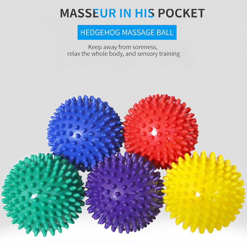 7cm PVC fitness hand and foot massage ball soles hedgehog sensory training grip ball portable physiotherapy ball