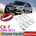 Для Mazda CX-7 CX7 CX 7 2006 ~ 2013 хромированные дверные ручки крышки наклейки на автомобиль отделкой комплект из 4 двери 2007 2009 2010 2011 2012
