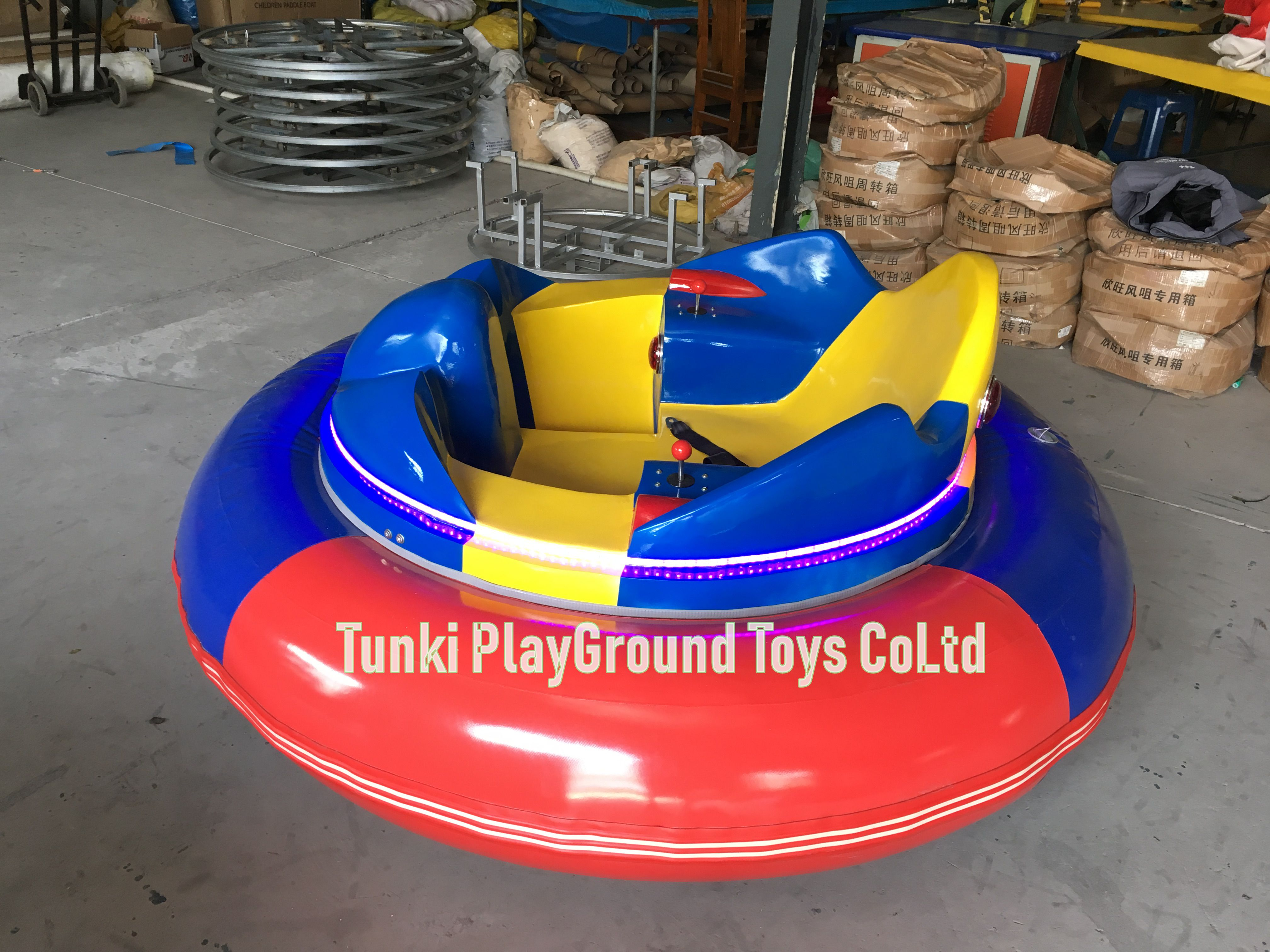 Indoor And Outdoor Amusement Rides Adults Battery UFO Inflatable Ice Bumper Car With Remote Control