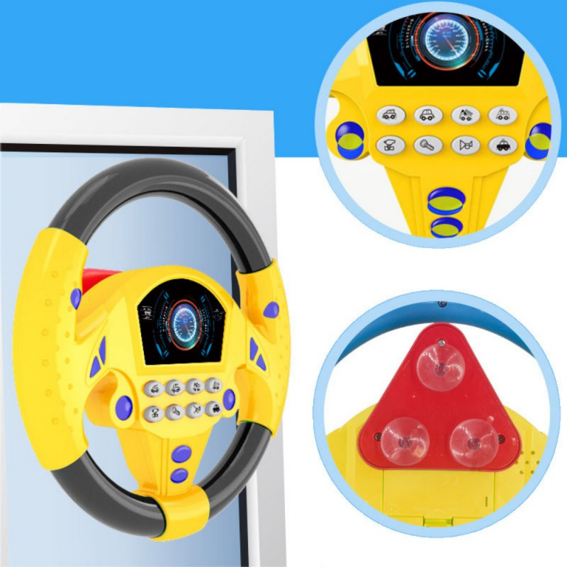 Kids Children Steering Wheel With Sound Simulation Driving Car Toys Baby Interactive Toy 1PC