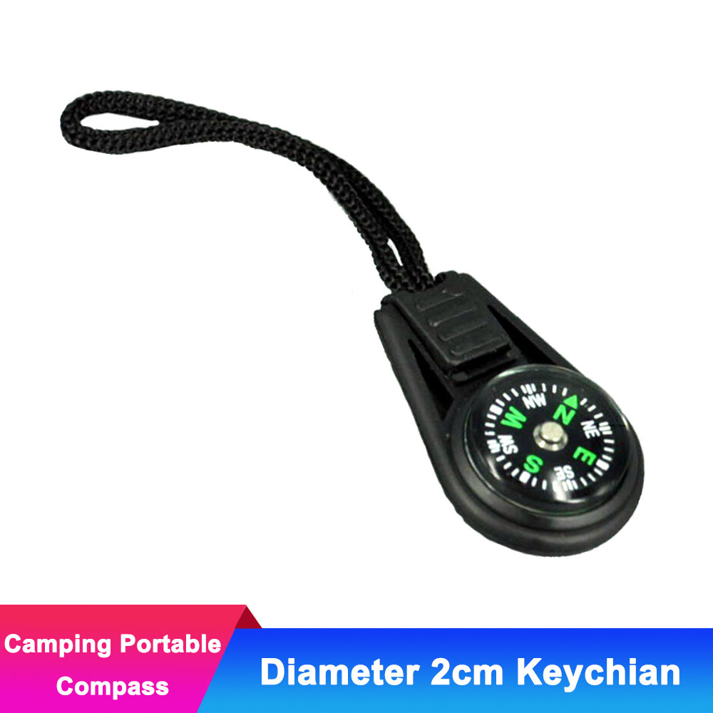 5pcs Survival Mini Compass for Camping Hiking Portable Travel Compass Keychain Outdoor North Navigation Tools EDC Equipment(China)
