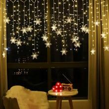 Luzes de natal led luzes da corda luzes de natal luz festa de natal à prova dwaterproof água conectável onda