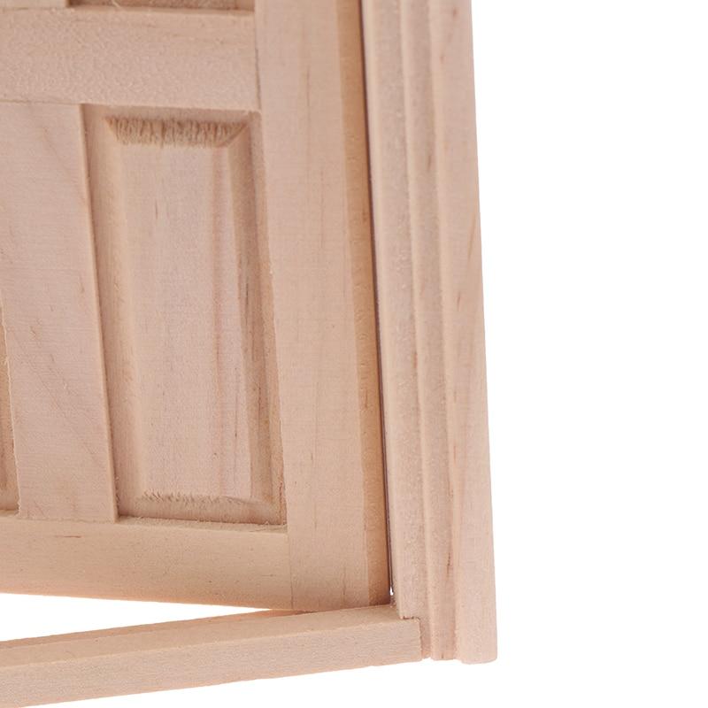 1 шт. DIY деревянная Spire дверь Кукольный дом аксессуары ролевые игры игрушки для детей 1:12 Кукольный дом дверь мебель моделирование миниатюры