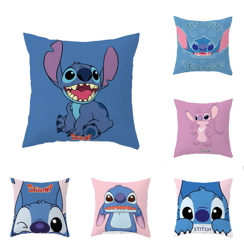 Cartoon Lilo Stitch Decorative/nap Pillow Cases Cushion Cover 1 Piece on Bed Sofa Children Christmas Gift Boys Girls