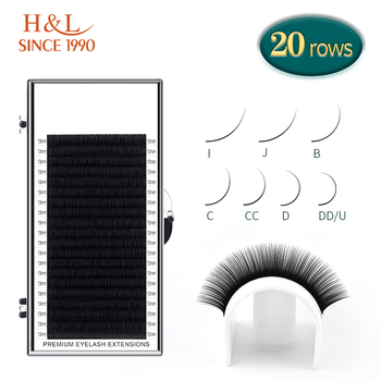 H&L SINCE 1990 20Rows Faux Individual Lashes Maquiagem cilios for Professionals Black Soft Eyelash Extension Thin Tape 1