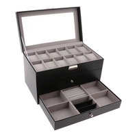 3Layers, Jewelry Box Organizer, Display Storage Case for Rings Earrings Necklaces, Eyeglasses Storage Holder