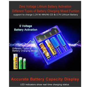 Image 5 - 1 pces pkcell carregador de bateria inteligente para 1.2v 3.7v 3.2v aa/aaa 26650 nimh li ion battery18650 carregador de bateria 5v 2a