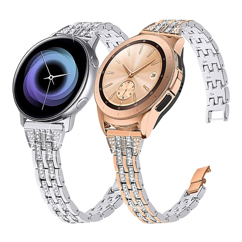 20/22mm Strap For Samsung Galaxy Watch 42/46mm Stainless Steel Loop Watchband For Galaxy S2/S3/Active Band Bracelet