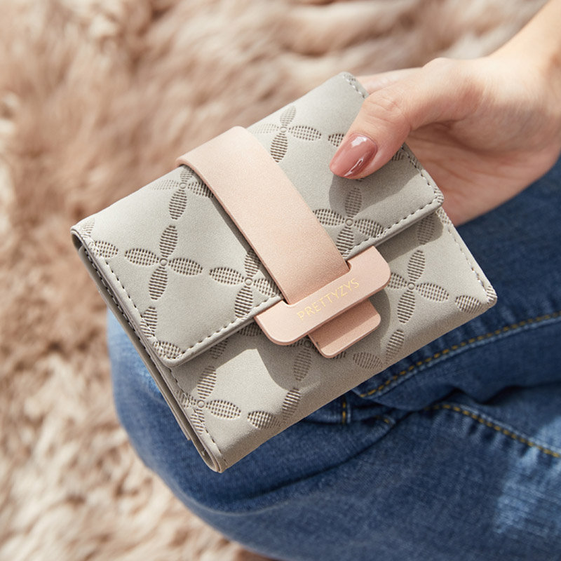 New Fashion Women Short Purses PU Leather Female Wallet Fresh Card Holder Coin Money Bag Soft Dollar Price Ladies Wallet Small