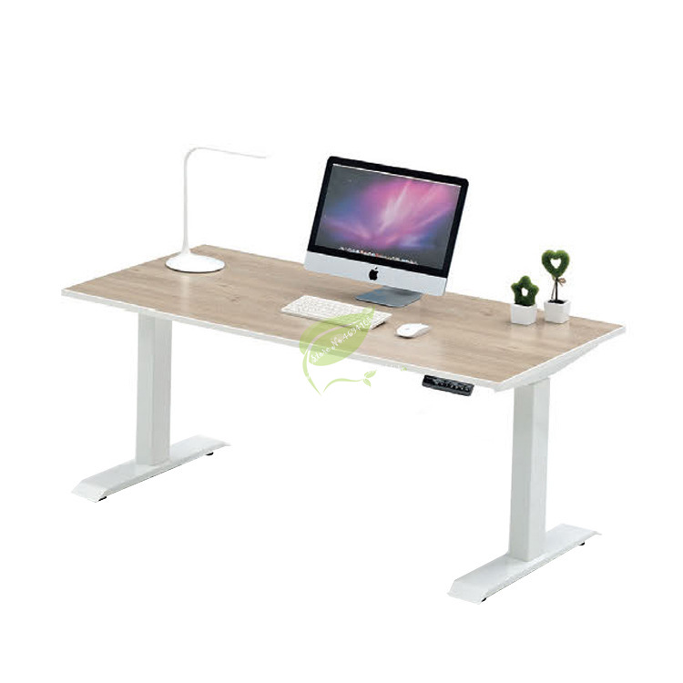 Simple Computer Desk Electric Lifting Computer Table Tempered Glass Standing Type Lifting Table