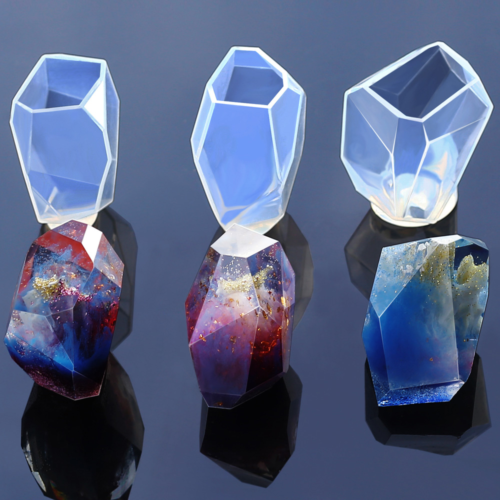Transparent Silicone Mould Dried Flower Resin Decorative Craft DIY Stone Mold Cutting Shape Type Epoxy Resin Molds For Jewelry