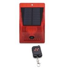 Solar-Strobe-Light Protect with Remote-Control Sound-Alarm Your Home Farm Barn Villa