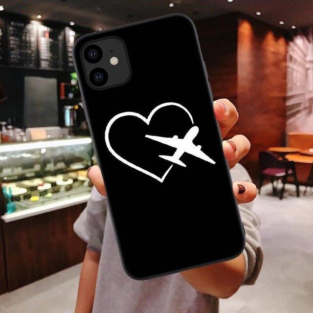 Toujours suivre votre coeur silicone Housse Pour iphone 11 Pro Max Voyage Avion Coque Souple Pour Iphone 6 6s 7 8 Plus X XR XS MAX