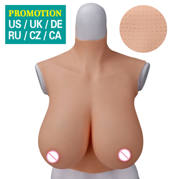 Dokier crossdresser silicone breast forms fake boobs cosplay tits shemale transgender drag queen meme transvestite B C D F H CUP teardrop shape 600g pair b cup fake silicone breast forms fake boobs tit bust chest with straps for men crossdresser drag queen