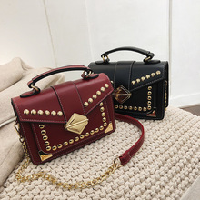 2019 New Female Bag Fashion Women Handbag Rivet Lock Single Shoulder Oblique Satchel Chain Luxury Handbags Bags Design