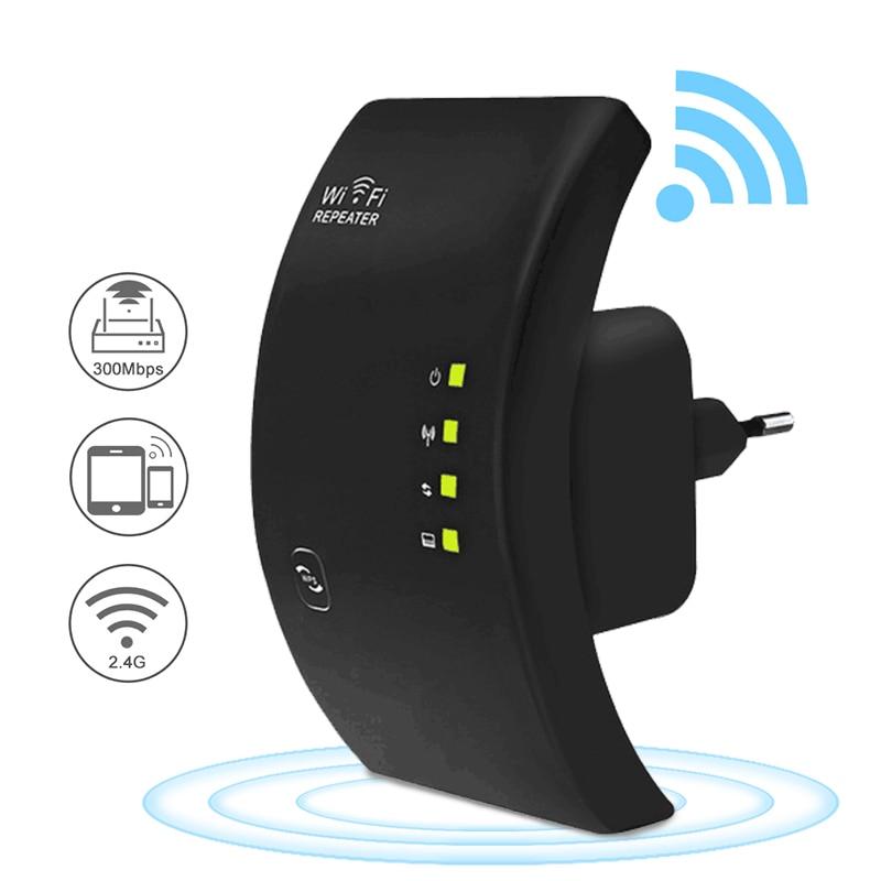 Bilgisayar ve Ofis'ten Modem-Router Kombinasyonları'de Kablosuz WiFi tekrarlayıcı 300Mbps WiFi genişletici 802.11N/B/G Wifi ağ anten sinyal güçlendiriciler amplifikatör Wi fi Wps şifreleme title=