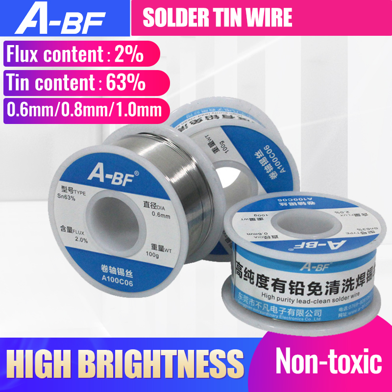 A-BF Solder Tin Wire Roll Rosin Core Soldering Durable High Brightness Non-toxic Tin Wire For Soldering Iron Soldering Station