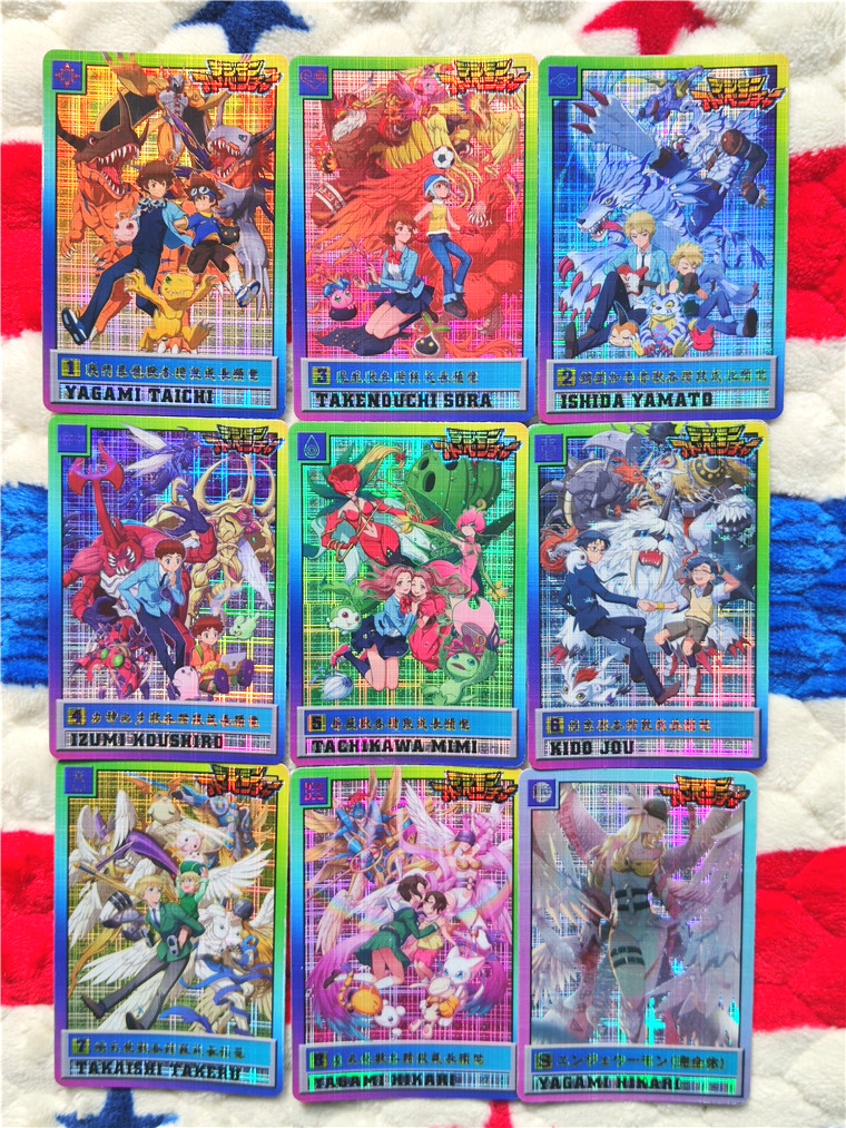 9pcs/set Digital Monster Digimon Toys Hobbies Hobby Collectibles Game Collection Anime Cards