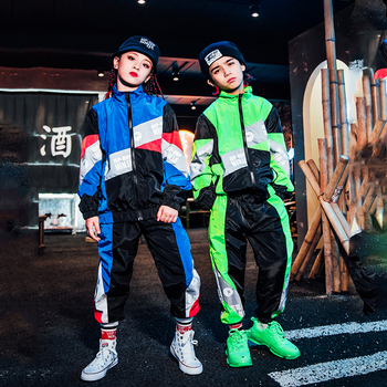 Hip Hop Costume Girls Modern Dance Costume For Kids Jazz Dance Costumes Children Stage Costumes Performance Dance Outfit DQS3681