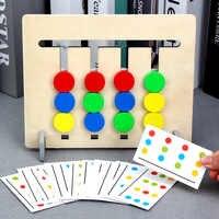 Montessori Spielzeug Farben und Obst Doppelseitige Passende Spiel Logische Argumentation Ausbildung Kinder Pädagogisches Spielzeug Kinder Holz Spielzeug