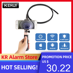 Image 1 - Fuers F110 1M 3M 케이블 8mm 1080P HD 방수 핸드 헬드 WIFI 내시경 안 드 로이드 IOS 전화에 대 한 LED 다목적 검사 카메라
