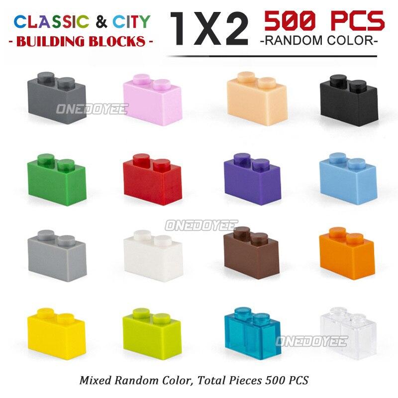 1*2 Diy Blocks Toys Compatible Model Building Blocks Early Education Training Toys Toys For Kids100-1000pcs Lot Building Brick